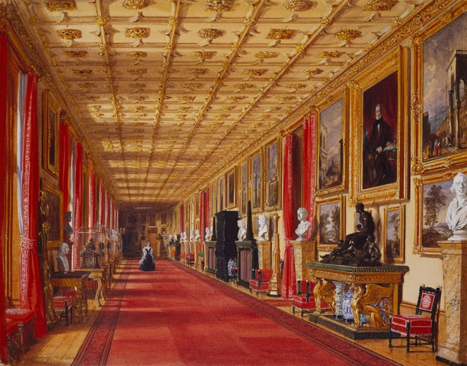 Grand_Corridor,_Windsor_Castle,_1846